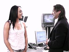 He got a huge chunky ebony secretary and she is always available when it comes to fucking as her boss always cheats on his wife and sneak on her office for some sweet quickie.