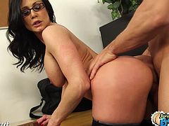 Lustful teacher caught fucking her young students. This hot milf Kendra Lust took advantage of being in control in the campus and will choose whatever she want to fuck on the classroom.