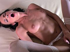 Anal slut gets black dick deep in her asshole after BJ