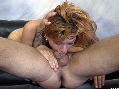 Hazel Allure is the type of whore who's fun in small doses. In the beginning, it's cute the way she's throwing her pussy all over the place but after about 15 minutes, you just want her to shut the fuck up and go home... but she doesn't. She lingers around, ever annoying anyone within ear shot. She's also the type of whore who tells you she's wild, crazy and can do anything... but once the anything starts, it's all whining and complaining. I can't do this... I can't do that. I despise these types of bitches. Anyway, aside from the constant nagging during the face fucking, we were able to slice