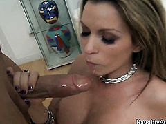 Courtney Cummz with juicy jugs and trimmed bush gets her soaking wet cunt drilled by Billy Glide