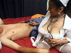 There is hot hardcore fuck action, as nurse gives this patient a farewell on his departure from hospital.
