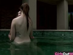 Girls Out West brings you a hell of a free porn video where you can see how these Australian lesbian brunette munch their cunts by the poolside til they cum very hard.