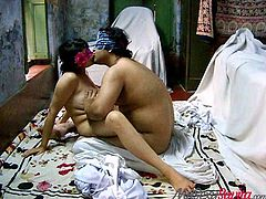 When this sexy Indian couple gets together, the sparks fly. He sucks on her nipples, which of course makes her very horny. She gets nice and close, so she can bounce on his cock and have hot, and steamy sex.