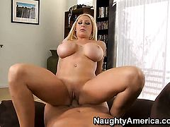 Candy Manson with juicy butt and shaved pussy has vigorous sex with hot guy Christian