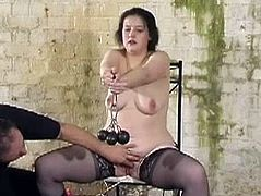 Slavegirl Emma punished in the dungeon of pain