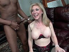 Nina Hartley fucked from behind by BBC