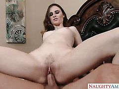 Bradley Remington gets pleasure from fucking Exotic Jay Taylor with firm butt and bald twat
