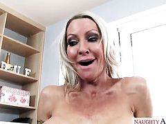 Dane Cross admires amazing Emma Starrs body before she takes his fuck stick in her hole