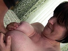 George loves an older brunette woman with big tits. Bojika goes down on George, sucking every last drop. Bojika proves a mature woman is worth being with. Watch her moan and cum in raw pleasure. Nothing like an experienced women!