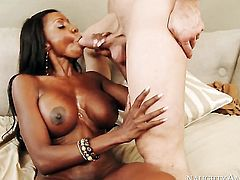 Bill Bailey has fantastic sex with Cocoa Diamond Jackson with huge hooters and shaved bush