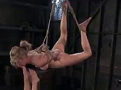 Don't scream at Bobbi Starr, she won't tolerate that from her sub who should know better.  When Bobbi does finally exhibit it, it's where the lezdom funtime especially begins, the cage is open and the gloves come off.