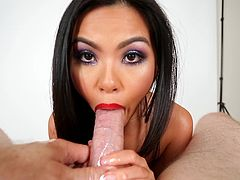 Naughty Asian porn hot chick Cindy Starfall gets fucked hardcore doggystyle