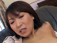 Jun Kusanagi is A Sensuous office worker, she does her job to perfection while looking like A princess. the chaps at work appreciate her work and take her out for A break. They take her back to an upscale motel room where they each take A turn at fingering her trimmed pussy, shagging her holes, and leaving h