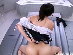 If you're a fan of horny Asian sluts, that crave to be filled with delicious cum, enjoy the hardcore sex scenes, where the kinky brunette with big bouncing tits gets all oiled and dirty in the company of an angry cock! See her fucked from behind, riding cock or standing in the reverse cowgirl position. Click!