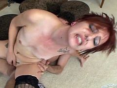Two lustful red haired chicks arrange dirty foursome orgy at home