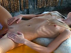 Mia cant resist the desire to have sensual lesbians sex with gorgeous Ivana