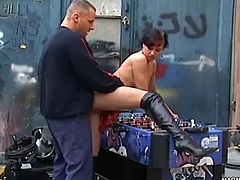 She manages to make foosball a dirty game before she gets her pussy pounded hard.
