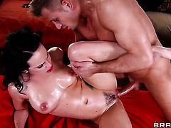 Bill Bailey enjoys devilishly sexy Katie St. Ivess wet hole in steamy hardcore action