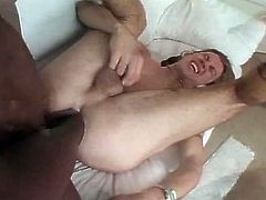 This shemale gets his cock sucked and then hardcore anal fucks his gay boy friend in this free sex movie.