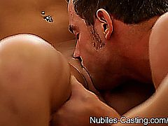 Skylar Green and Abby Paradise fuck during casting