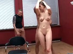 Blonde babe takes a fuck on both of her friend´s cocks.