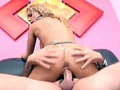 Sexy Blonde - Anal Dildo and 2 Hot Guys