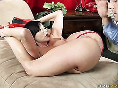 Ramon pops out his love torpedo to fuck glammed up Kendra Lusts mouth