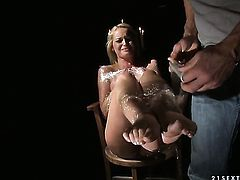 Blonde Kathia Nobili gets nailed the way she loves it