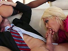 Hot women in stockings Ava Addams and Bridgette B fuck a guy