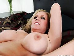 Julia Ann with massive knockers and bald beaver gets her soaking wet muff hammered by Tyler Nixon