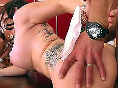Sexy MILFs with big tits Casey Cumz and Nikita Von James are on fire