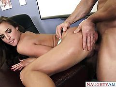 Johnny Castle cant resist juicy Amirah Adaras acttraction and fucks her like crazy
