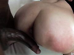 Kid Jamaica makes his rock solid meat stick disappear in pretty Maya Bs ass