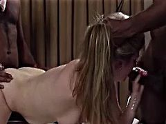 Husband involves his wife into a gangbang