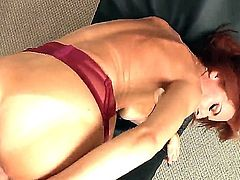 Tanlined redheaded MILF Veronica Avluv with big melons shows off her nice bottom as she gets her mature hole drilled by stiff thick cock from behind in POV. This smoking hot mom cant get enough!