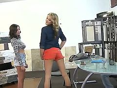 First time lesbian sex on camera