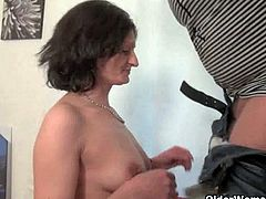 Moms Jana and Dena from OlderWomanFun.com enjoy their toy boy's hard cock in their mature pussy and mouth.Enjoy these horny grannies sucking and fucking with these young cocks.