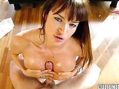 Latin Franceska Jaimes with phat bottom and horny dude have a lot of fun in this oral action