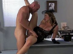 Johnny Sins bangs lovely wife in his office