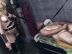 Girls smother his guy belts