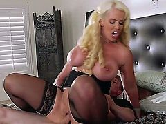 Horny MILF Alura Jenson with huge titties gets it on