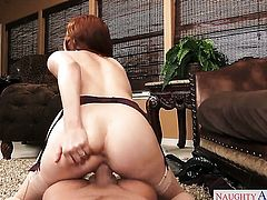 Xander Corvus attacks alluring Penny PaxS pussy with his love torpedo