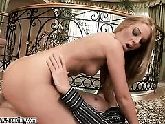 Blonde Debbie White is ready to suck guys sturdy fuck stick day and night