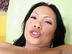 Oriental Mya Luanna is in fucking ecstasy in this steamy interracial scene