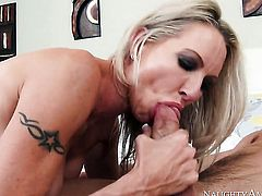 Johnny Castle has a nice time fucking Oriental Emma Starr with giant hooters and shaved pussy
