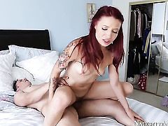 Alyssa Branch is close to orgasm after a few minutes of fucking with her Anthony Rosano