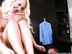 Aaliyah Love with hairless muff is on fire in hardcore action with hot dude Johnny Castle