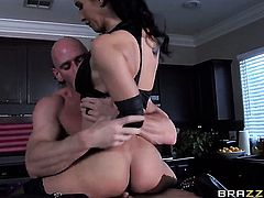 Isis Love with big melons and her hot bang buddy Johnny Sins are in the mood for fucking