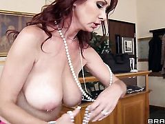 Danny D makes gag on his beefy tool before backdoor sex